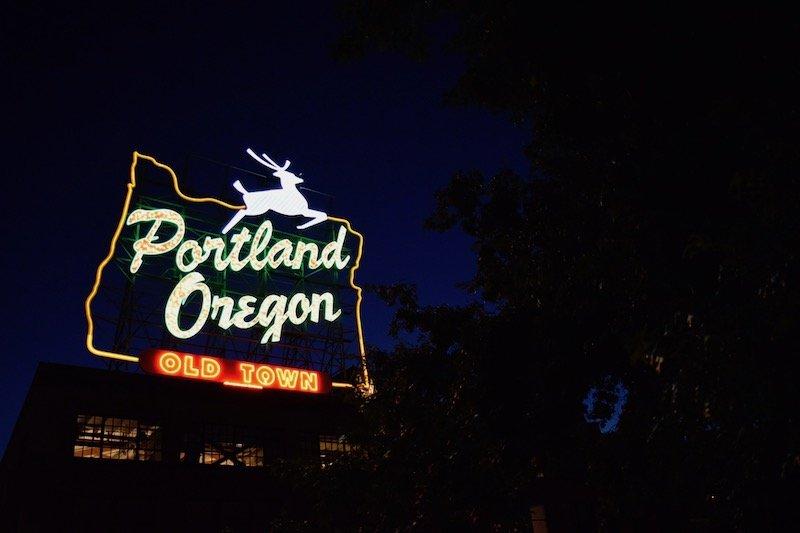 portland oregon white stag sign