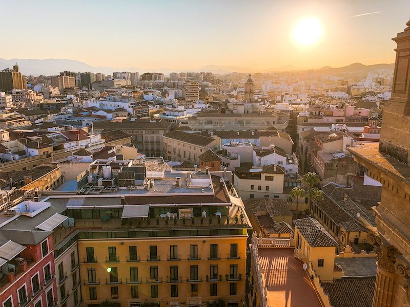 view from malaga cathedral