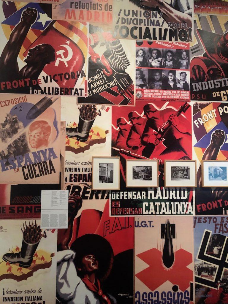 war propaganda posters at MACBA barcelona