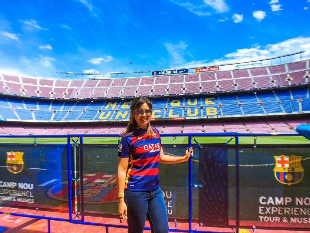 stadium tour at camp nou barcelona