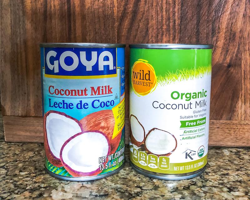 coconut milk for pina colada