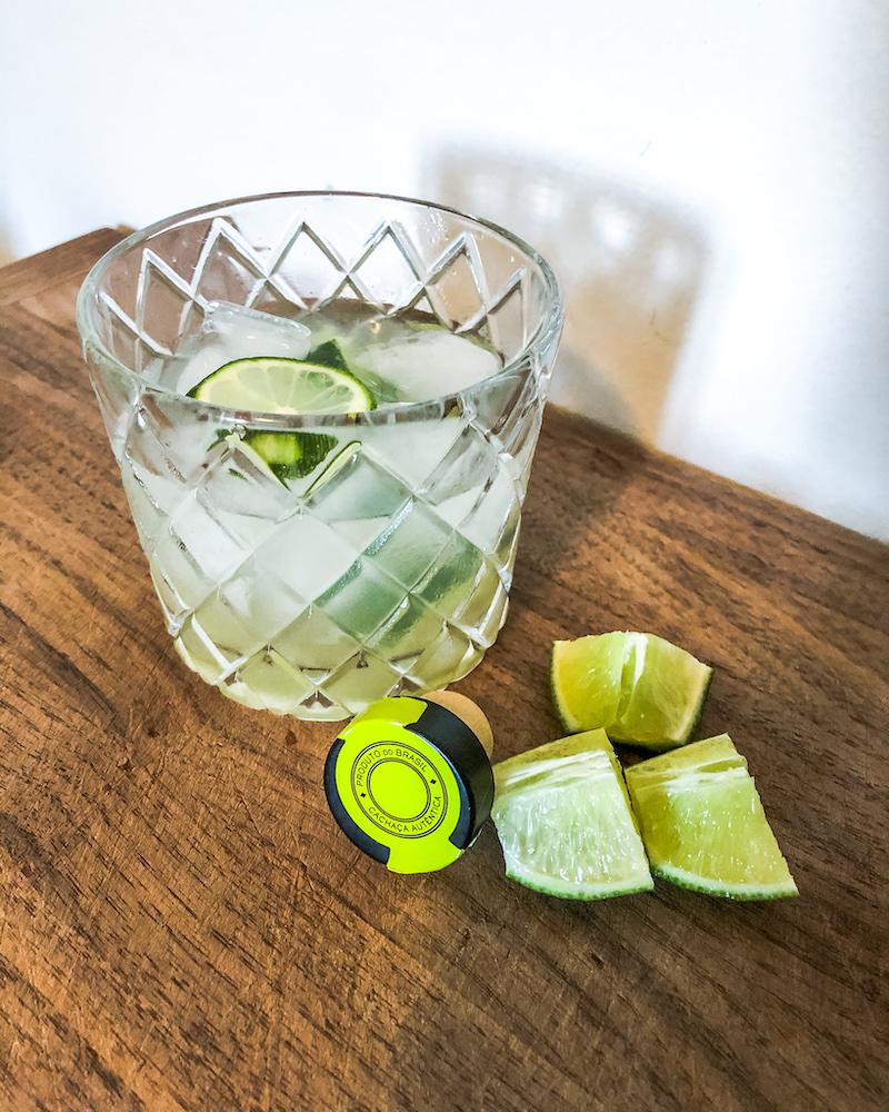 lime cubes for caipirinha cocktail