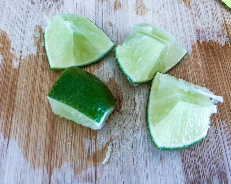 lime cubes for Caipirinha