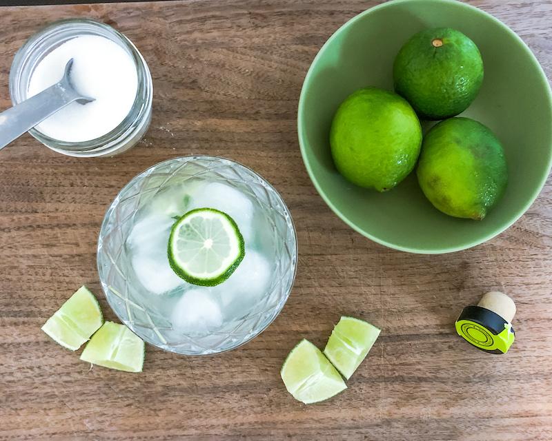 caipirinha cocktail lime sugar
