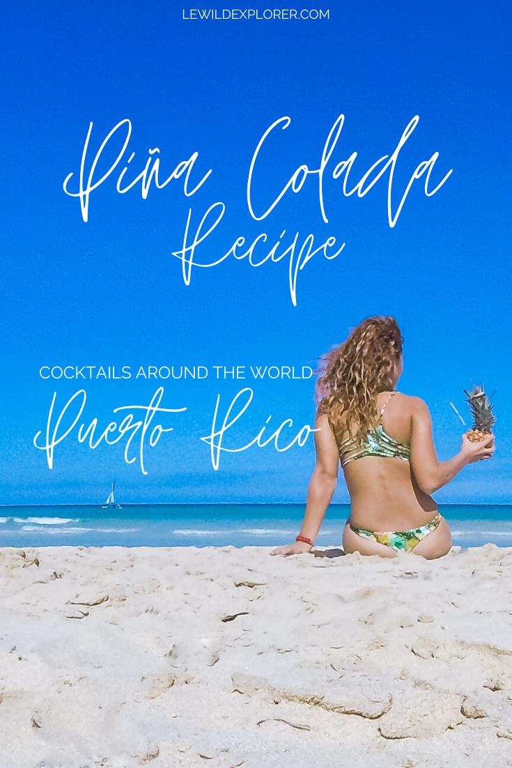 woman drinking pina colada on beach