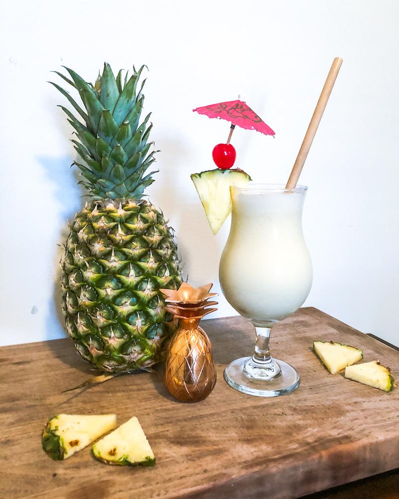pina colada with pineapple