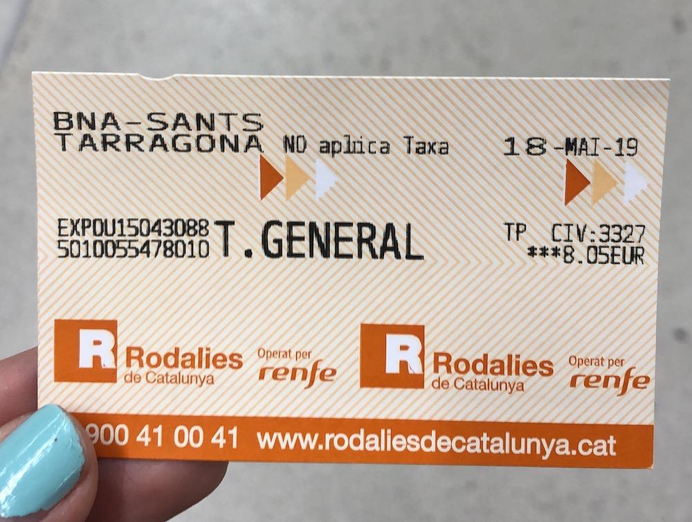 barcelona to tarragona train