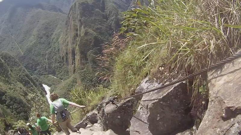 huayna picchu hike scary steps