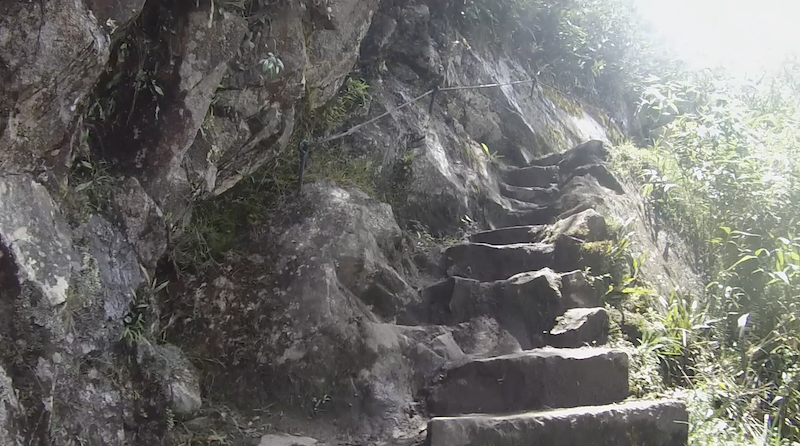stairs huayna picchu hike