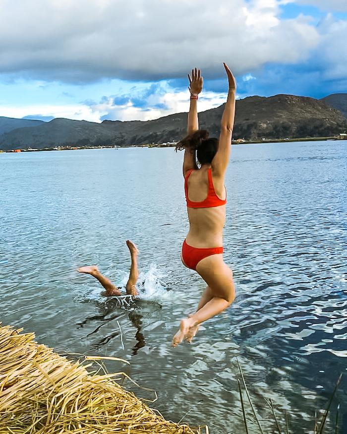 lake titicaca swimming