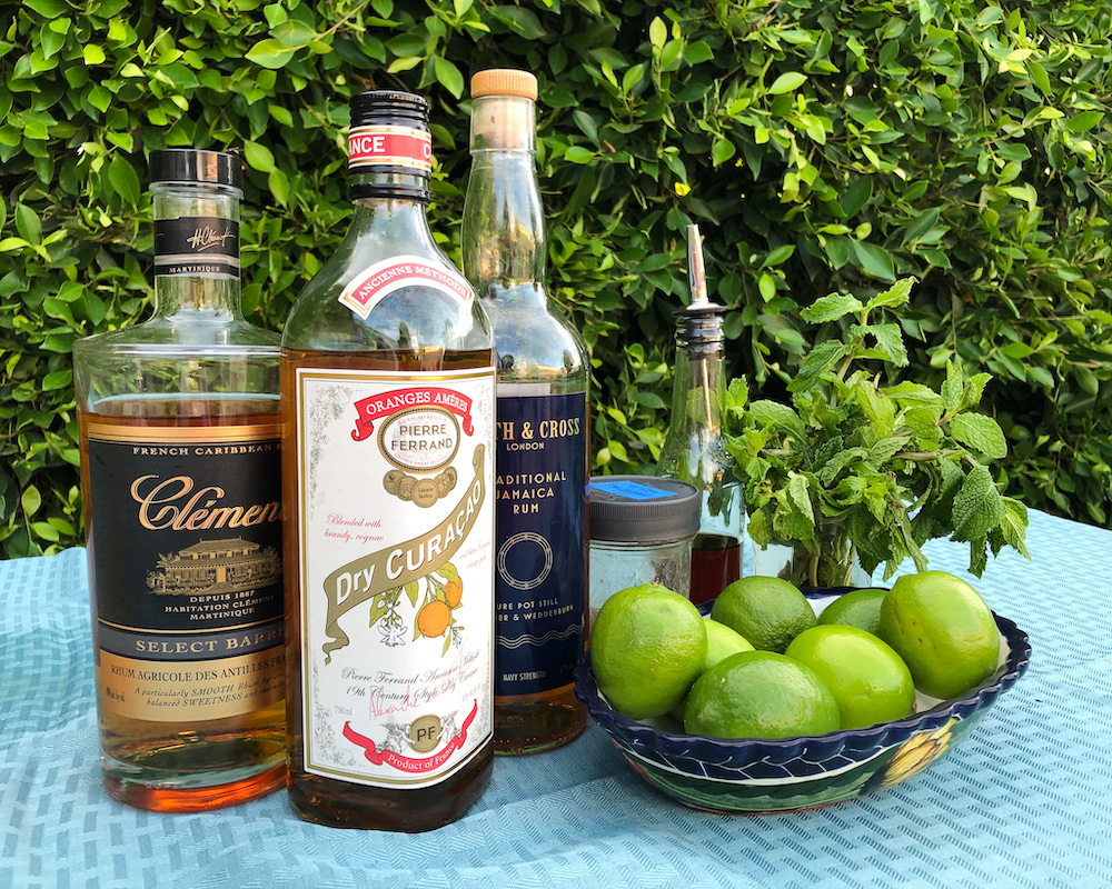 mai tai ingredients lime mint rum dry curacao
