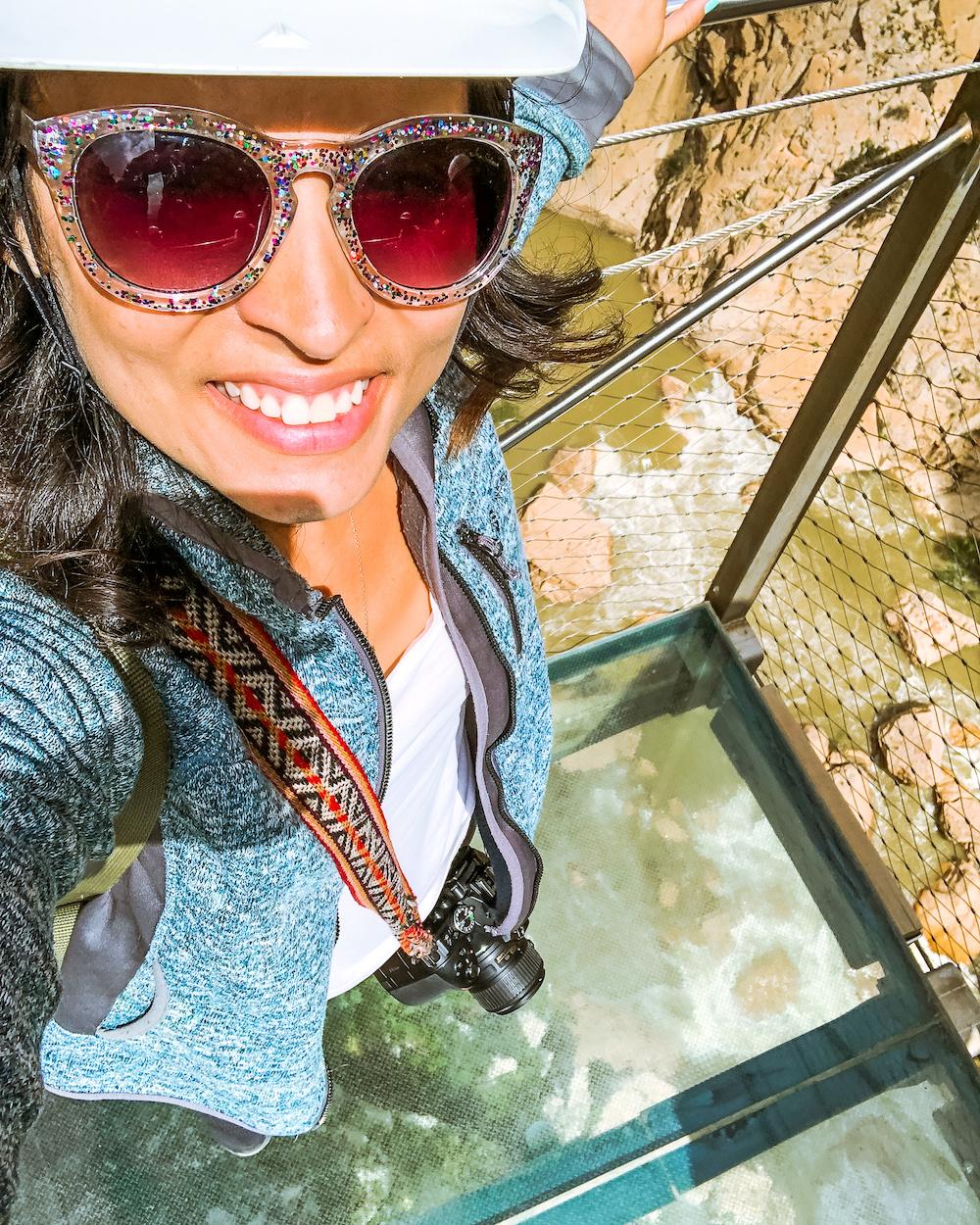 caminito del rey woman hiker