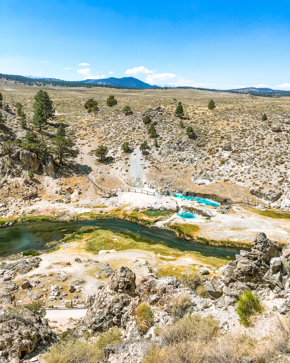 hot creek geological site