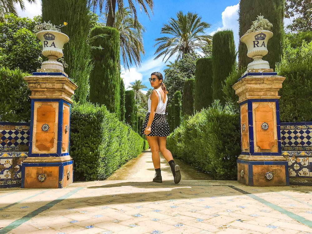 real alcazar de sevilla garden