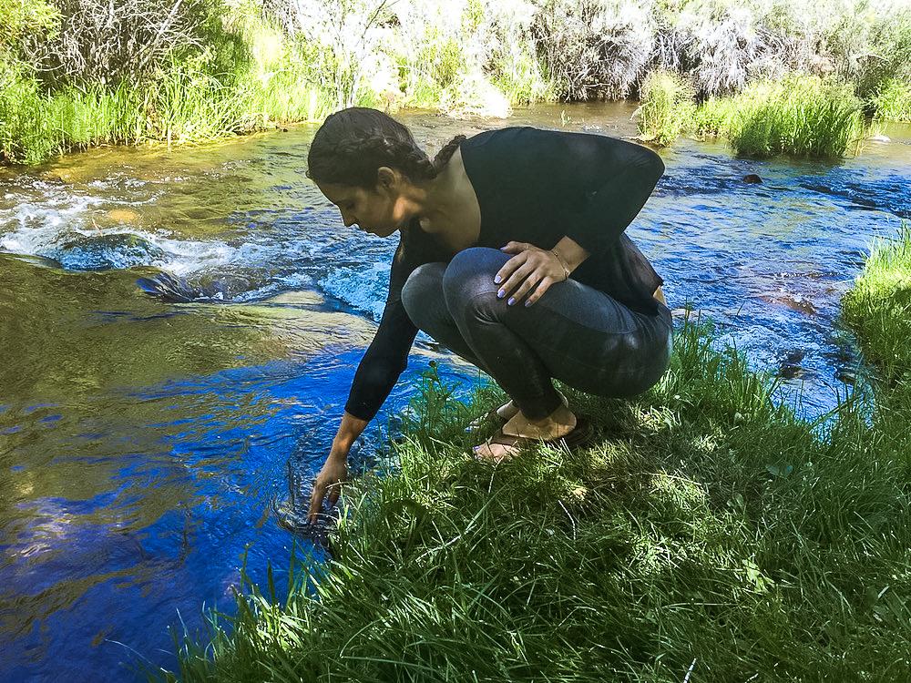 woman at virgina creek settlement bridgeport