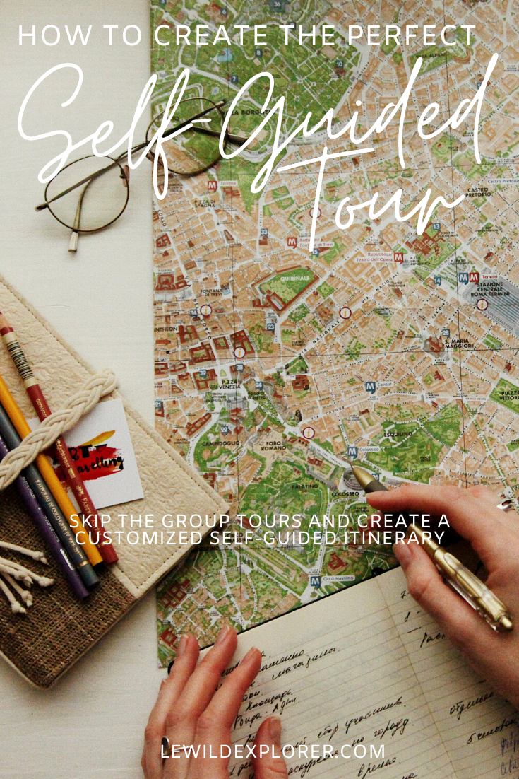 how to create a self guided itinerary