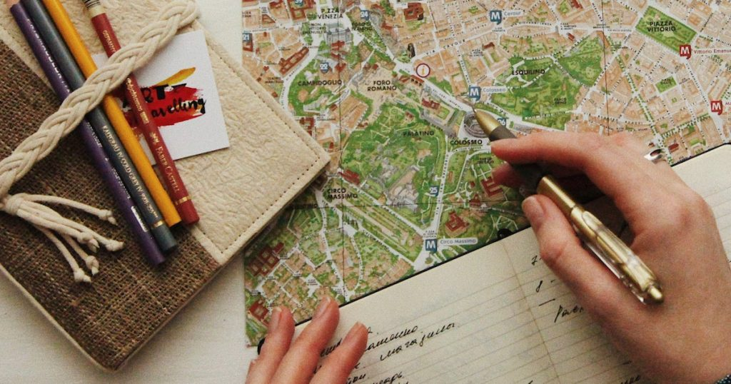 how to create a self guided tour itinerary