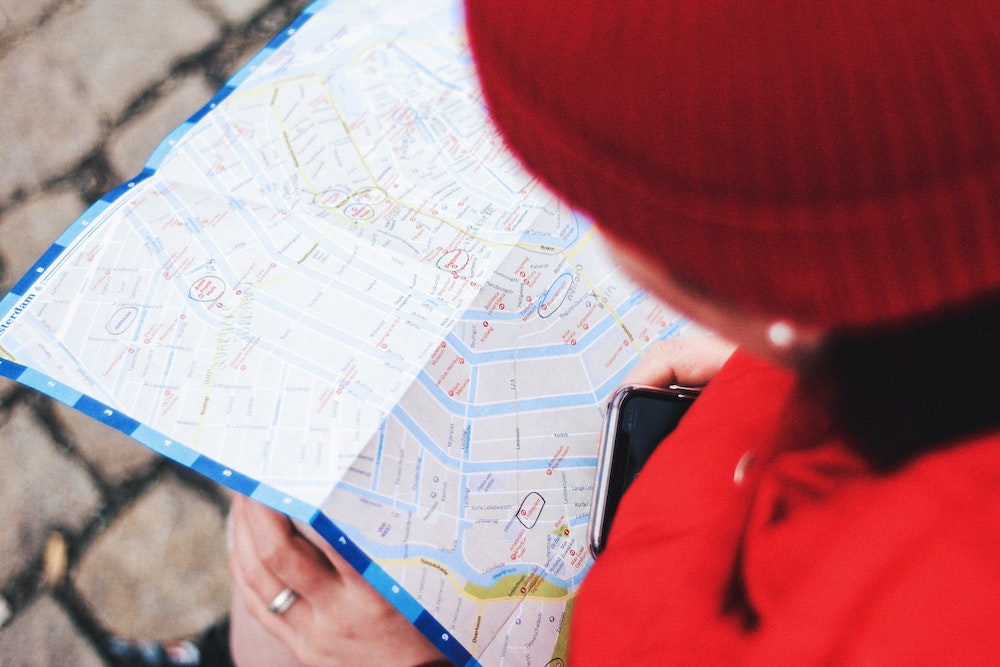 mapping out locations for self guided tour
