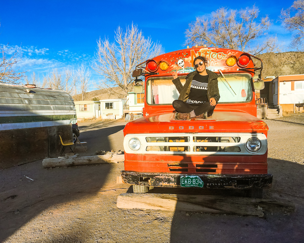 bus at mystic hot springs best places in utah