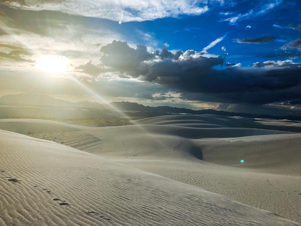 golden hour white sands national park