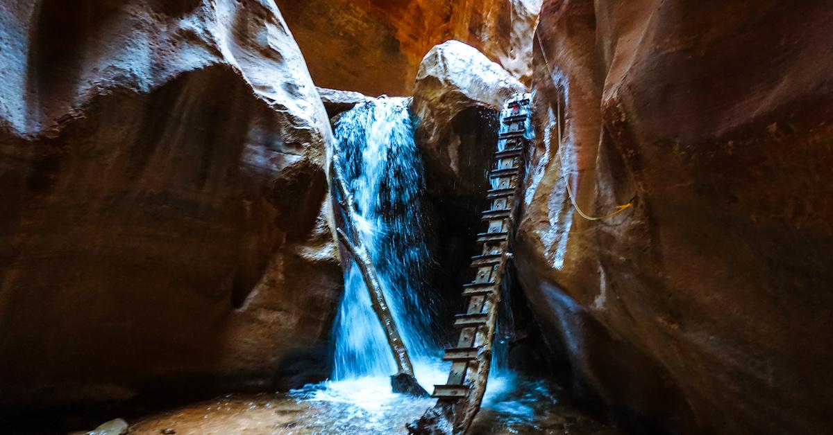 kanarra falls waterfall in kanarraville utah creek canyon