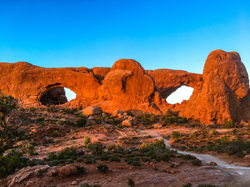 north and south windows arches national park