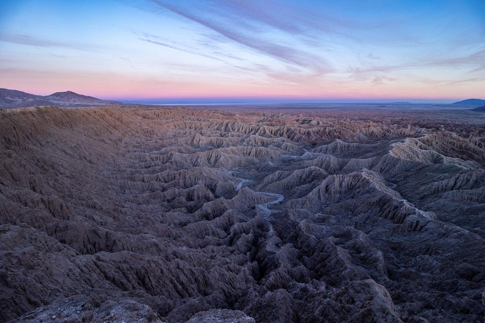 badlands mountains anza borrego desert state park california