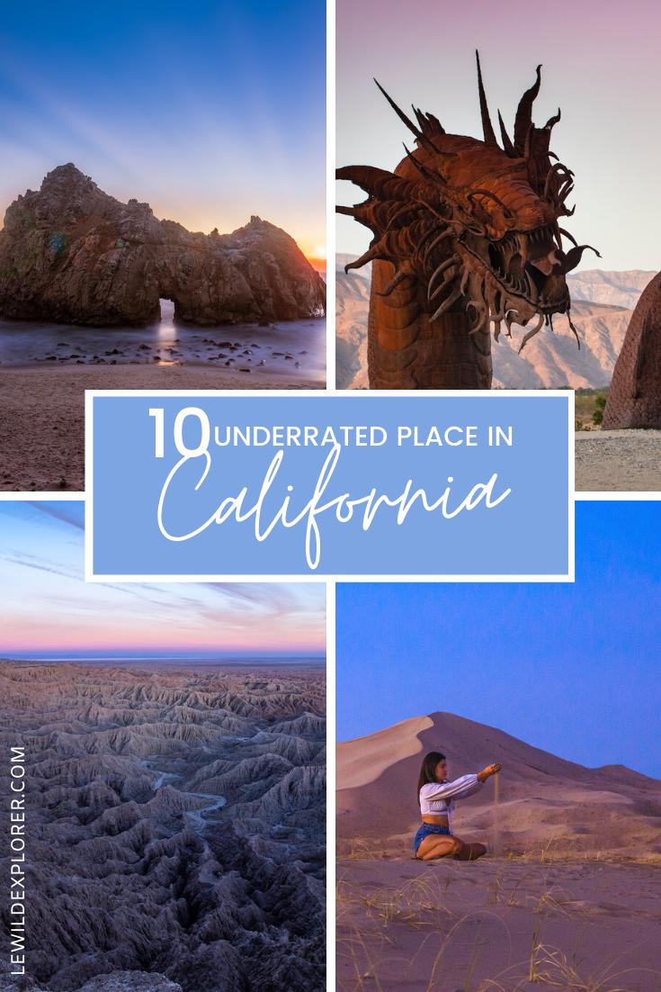 underrated places california
