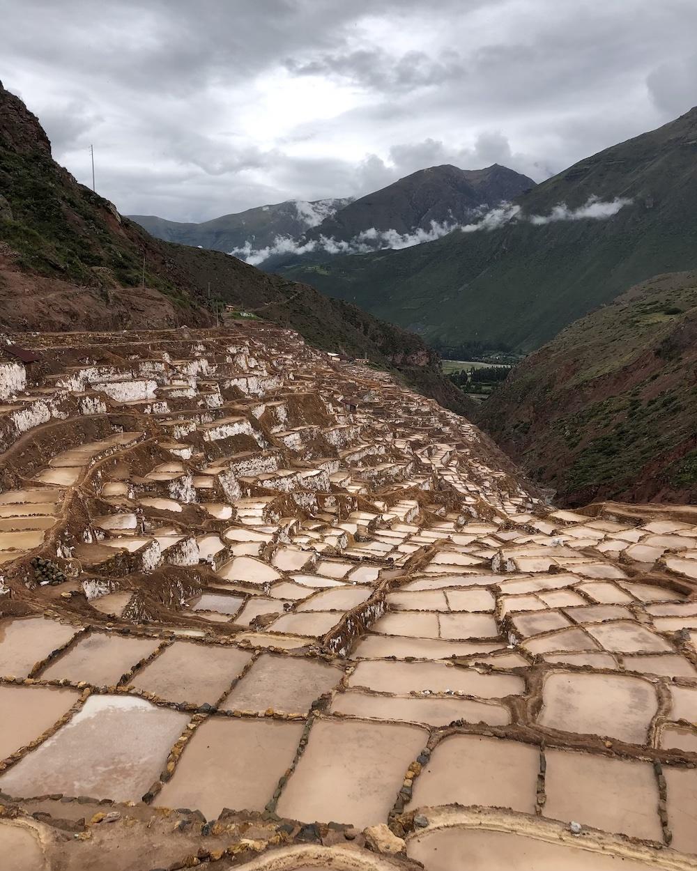 maras salt mines in sacred valley peru