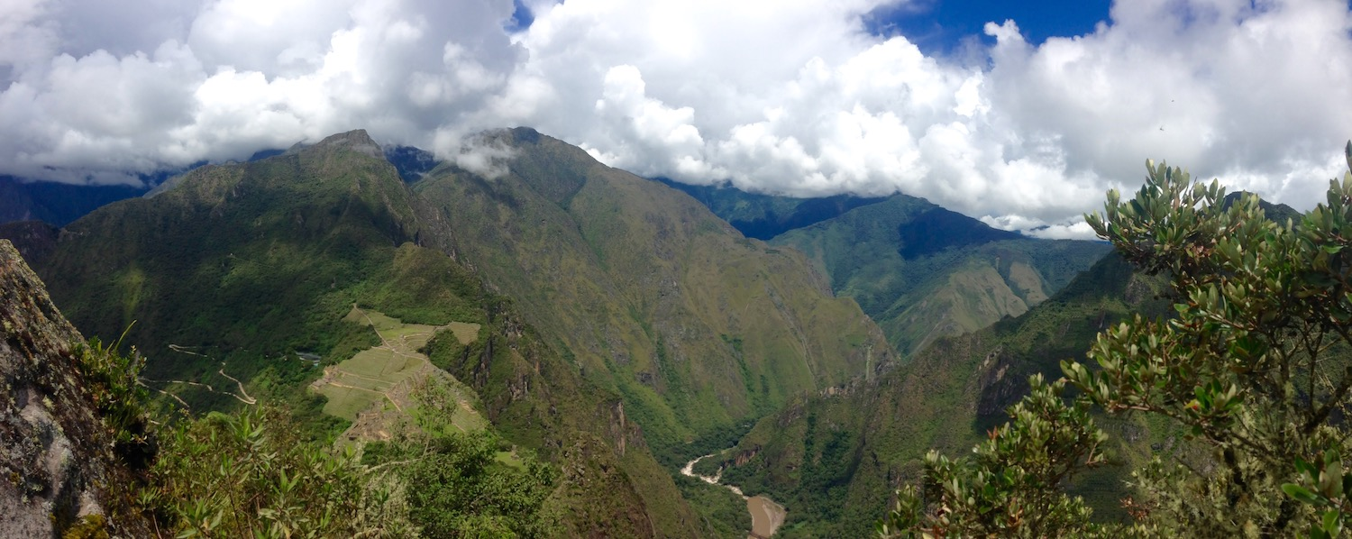 view from top of Huayna Picchu