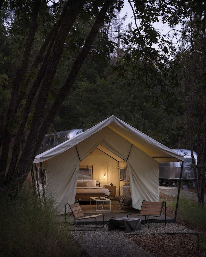 Luxury glamping Tent at AutoCamp Yosemite national park