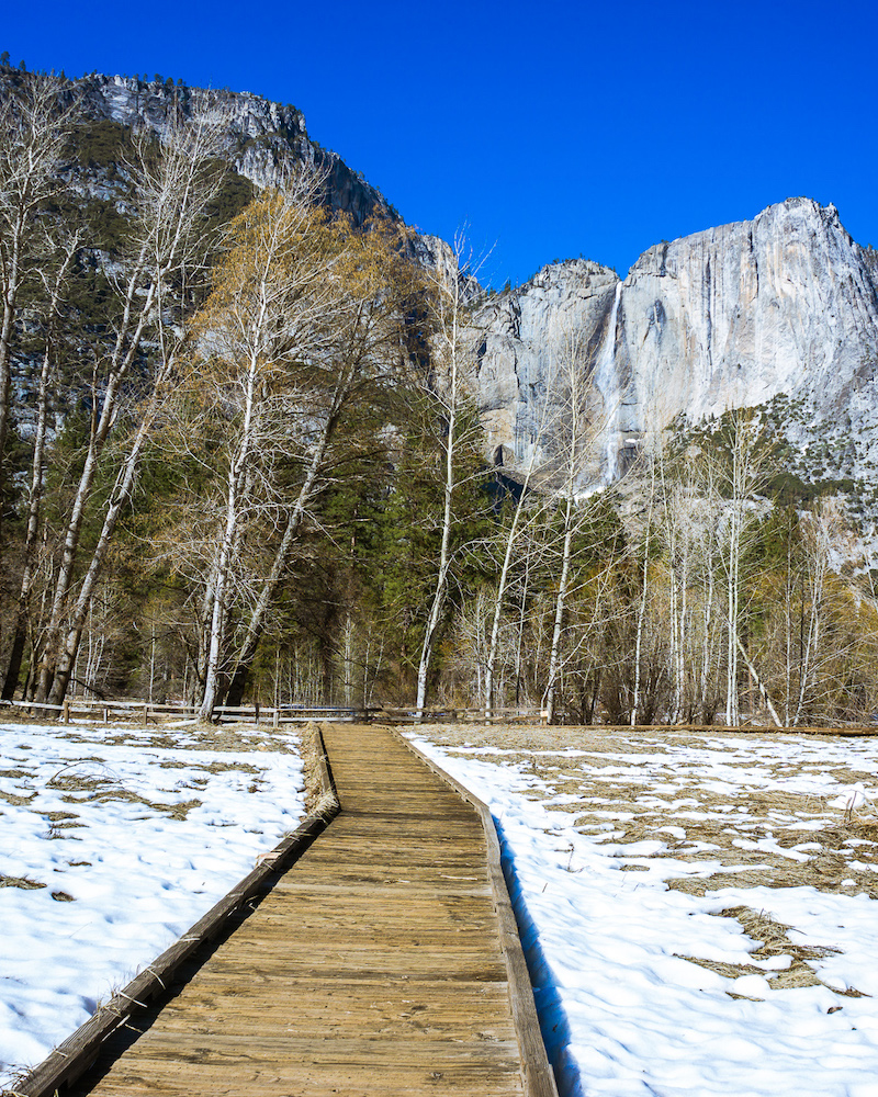 cooks meadow in yosemite national park in the winter