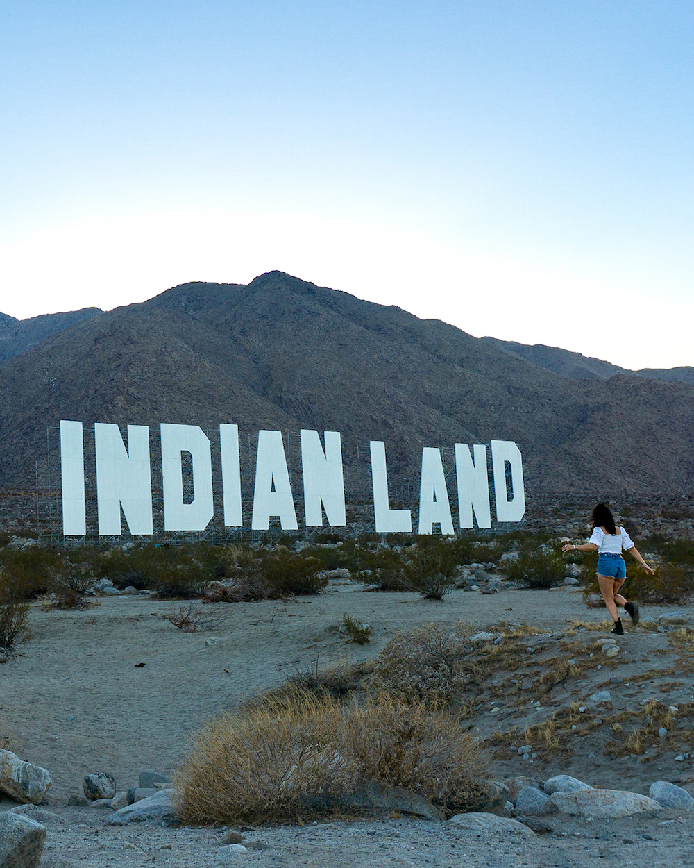 desert x 2021 Never Forget by Nicholas Galanin indian land sign art installation palm springs california