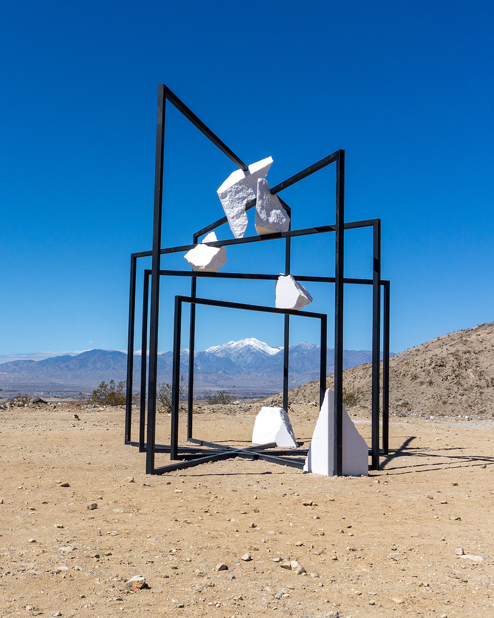 desert x 2021 ParaPivot sempiternal clouds by Alicja Kwade art installation palm desert california