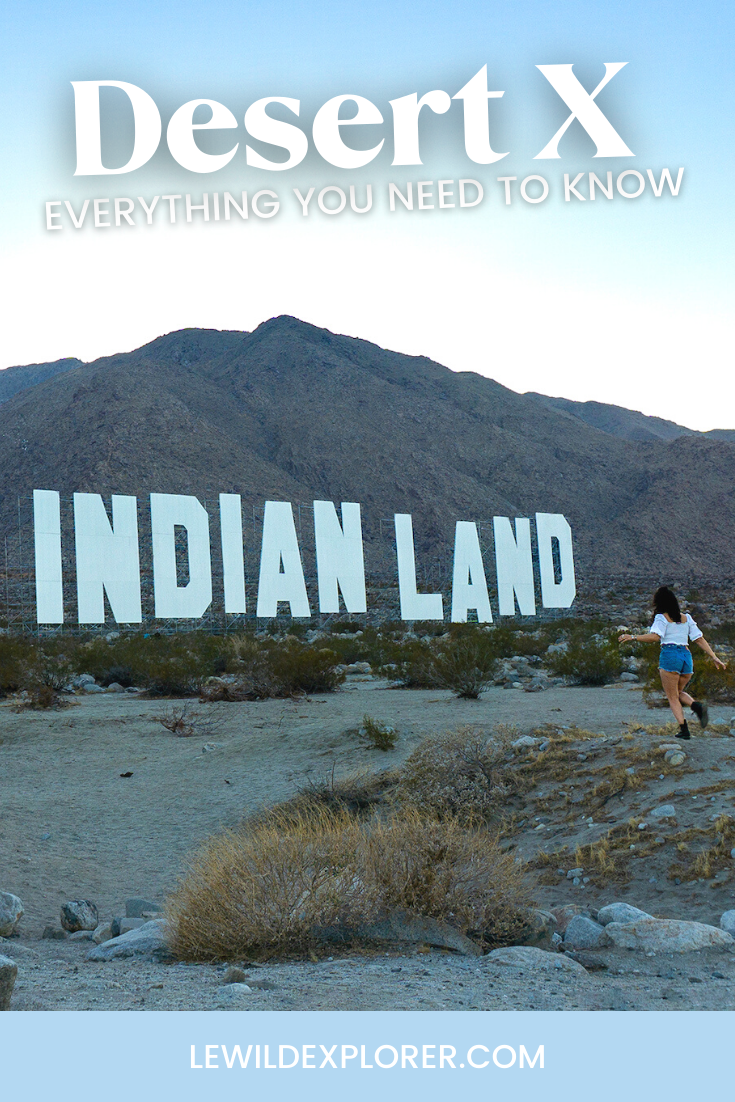 desert x 2021 art Indian land sign art installation in palm springs