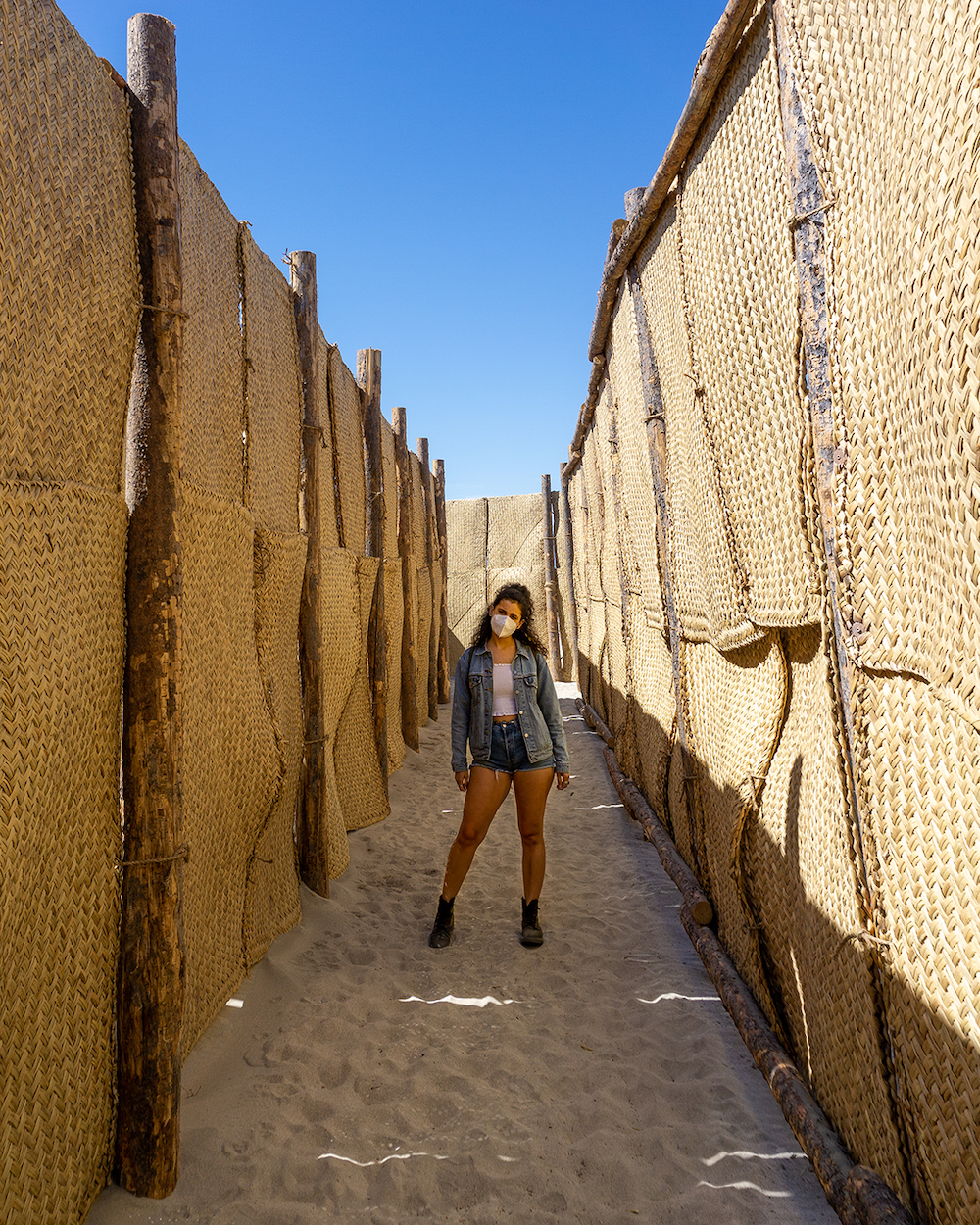 desert x 2021 the passenger maze art installation by eduardo sarabia