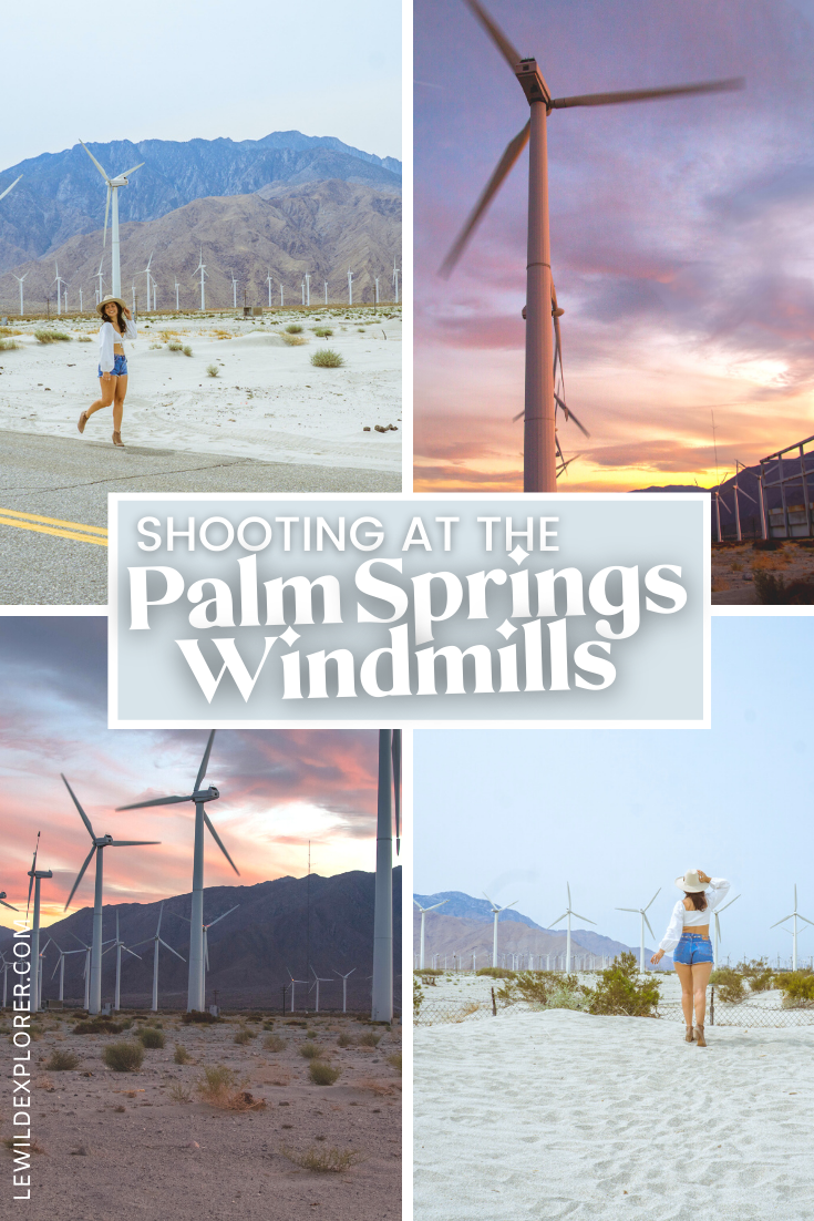 shooting at the palm springs windmills photography