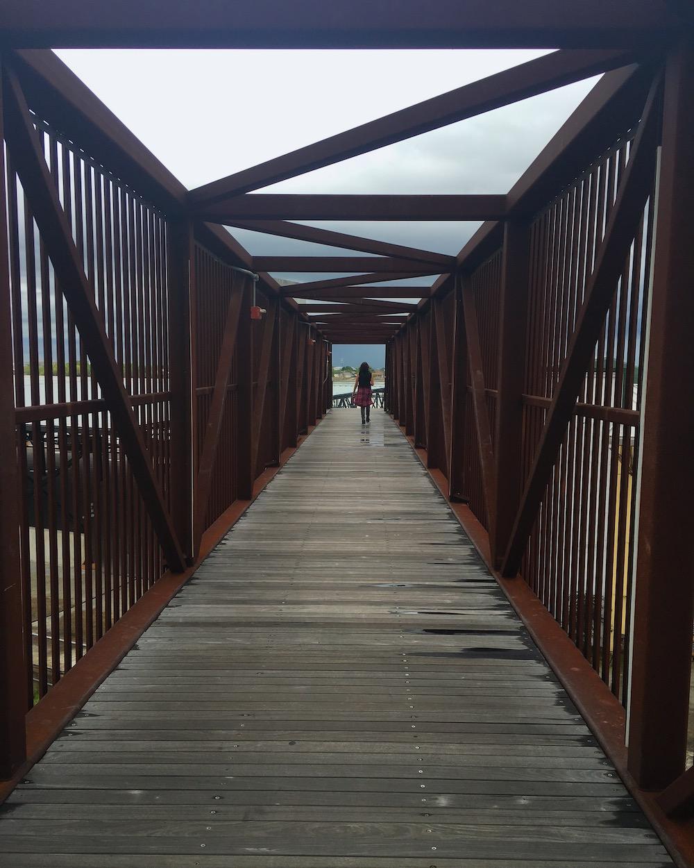 bridge at crescent park in new orleans