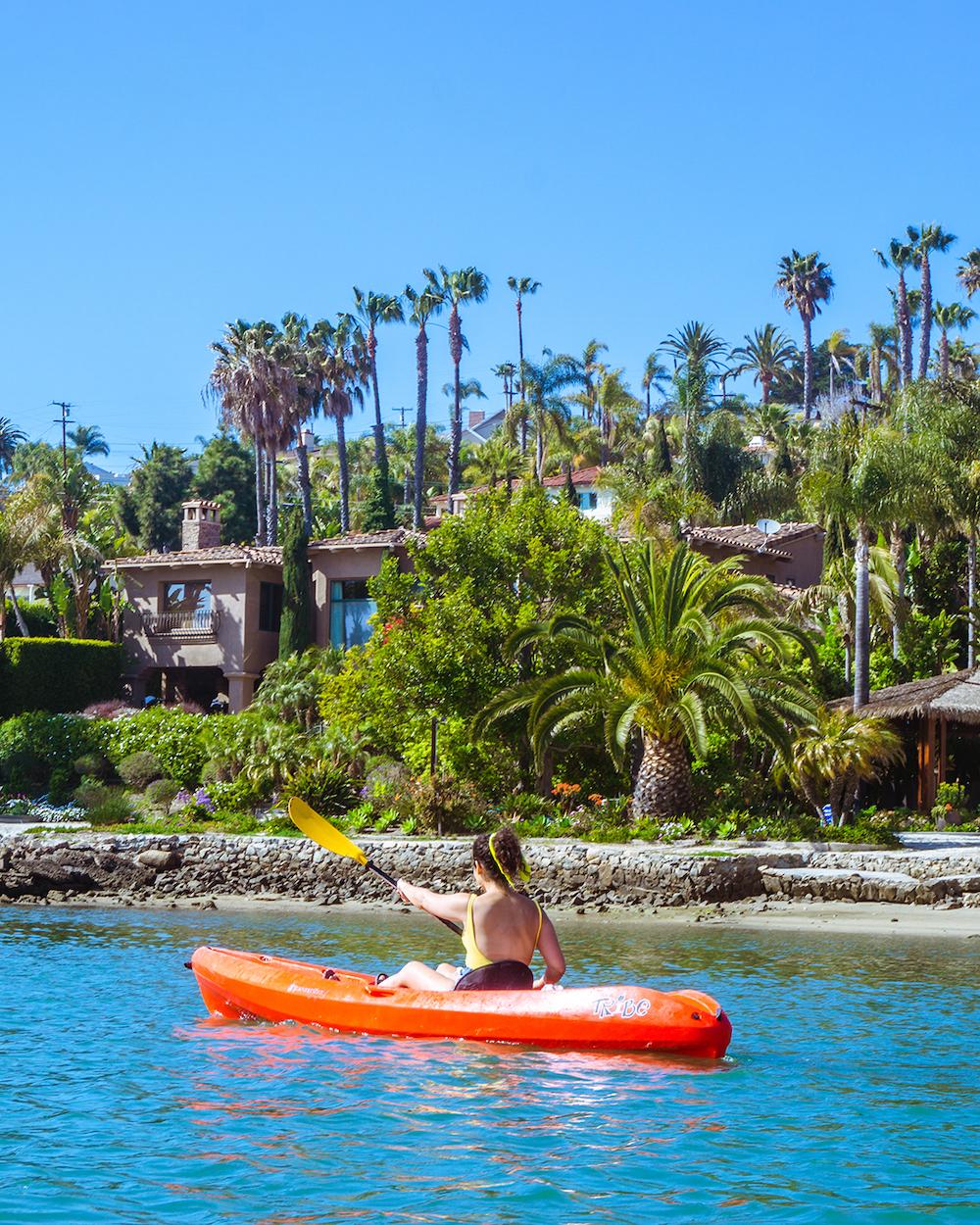 carlsbad kayaking lagoon agua hedionda