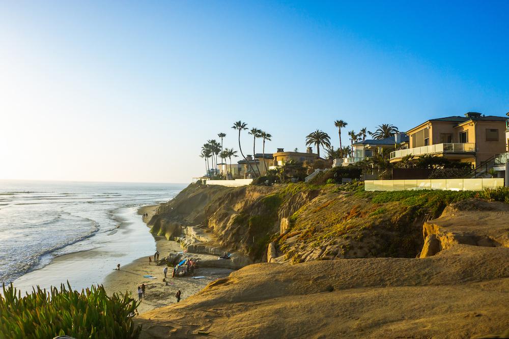 terramar beach in carlsbad california on a cliff overlooking the beach