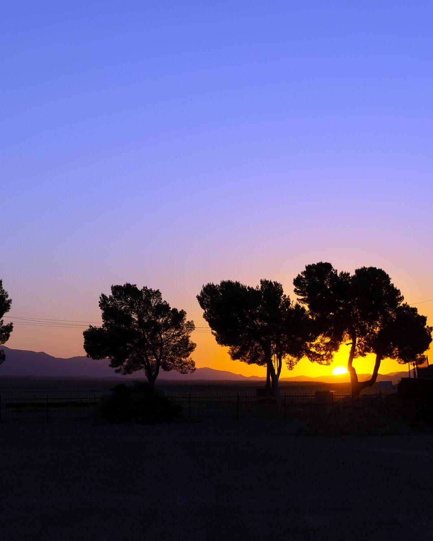 new cuyama california colorful sunset